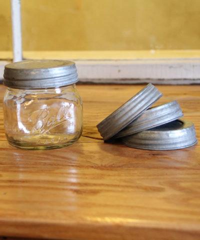 zinc wide mouth lids