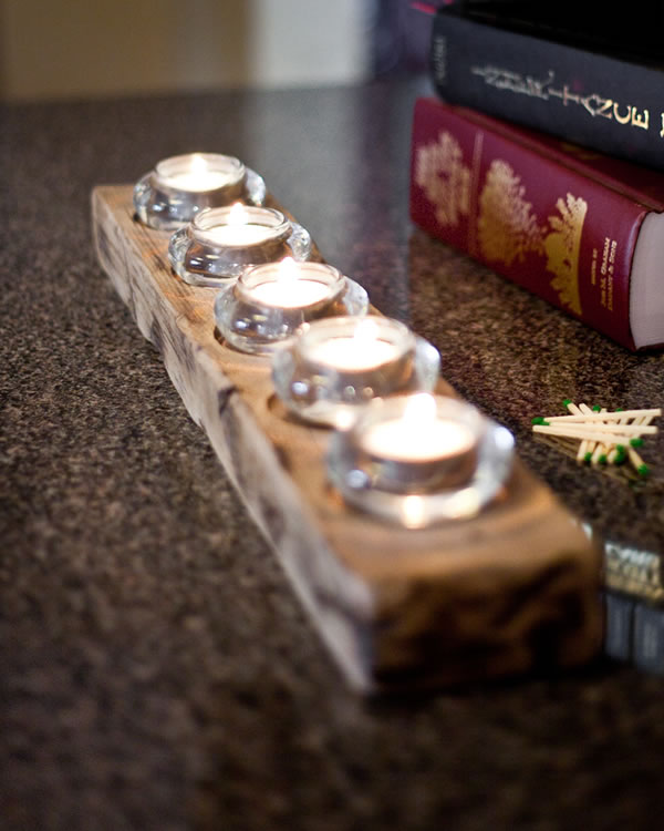 Barn wood Candle holders