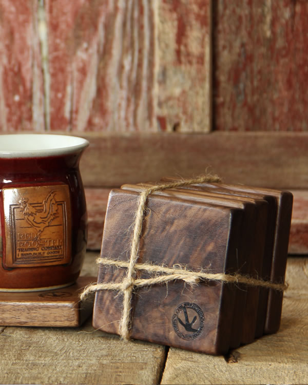 Hand Built Hardwood Drink Coasters ⋆ Red Rooster Trading