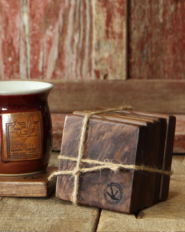 handcrafted walnut drink coasters - Drink Coasters
