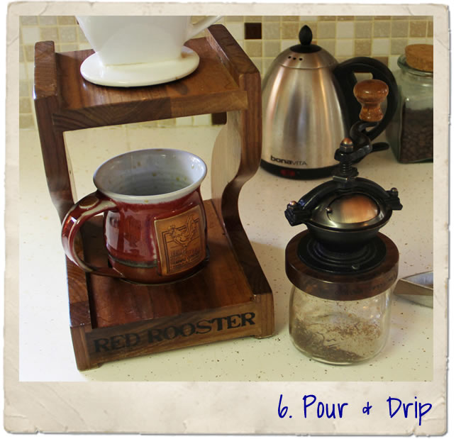 Red Rooster coffee pour over system