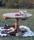 century old barnwood dining table
