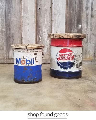 pepsi barrel end table